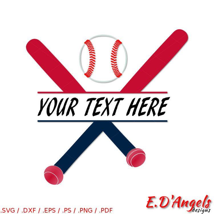 Bat svg split. Baseball clipart monogram
