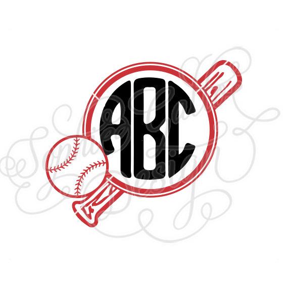 Baseball clipart monogram. Ball bat svg dxf
