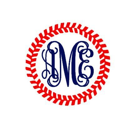 Baseball clipart monogram.  images of different