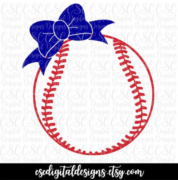 Bows clipart baseball. Bow svg monogram frame