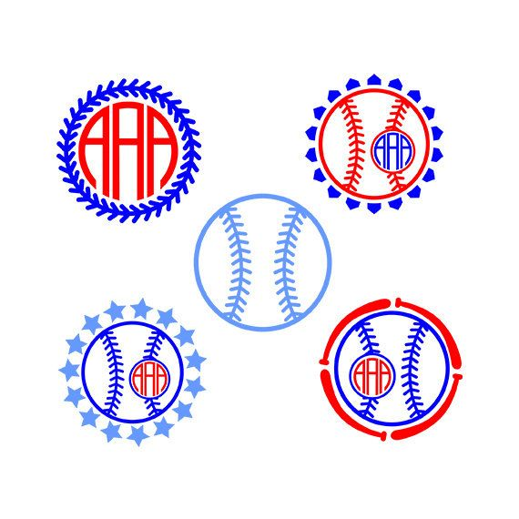 Svg by inkminta . Baseball clipart monogram