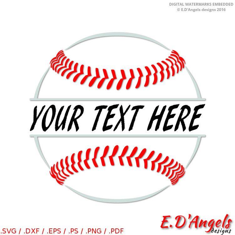 Baseball clipart monogram. Svg split