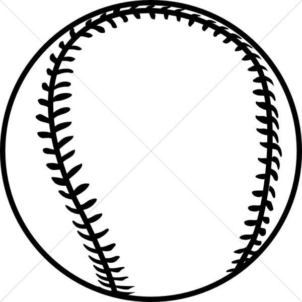 Black church activity. Baseball clipart outline