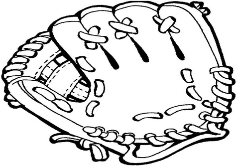 Baseball clipart outline. Glove drawing at getdrawings
