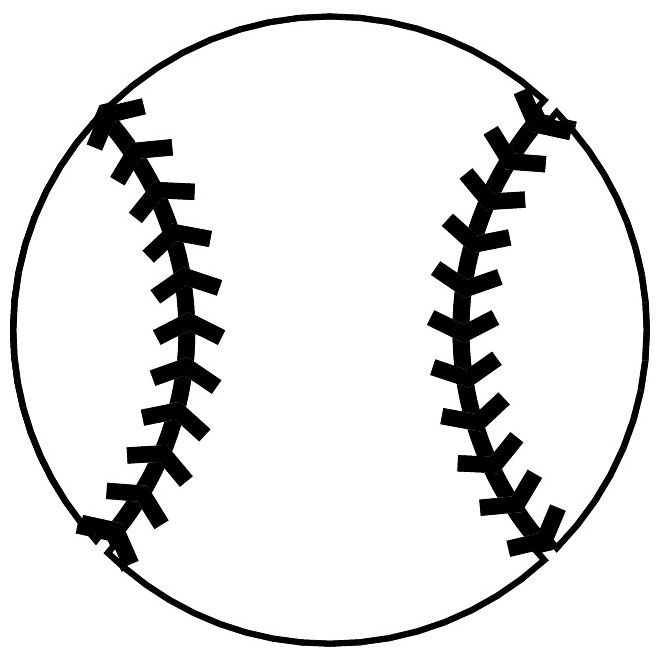 Free vector download at. Baseball clipart outline