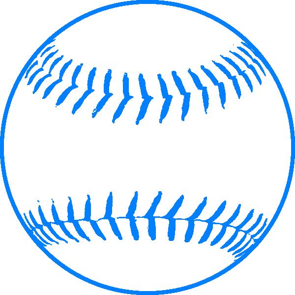 Baseball clipart outline. Blue softball clip art