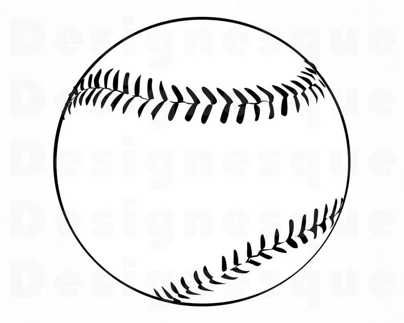 Baseball clipart outline. Svg softball files for
