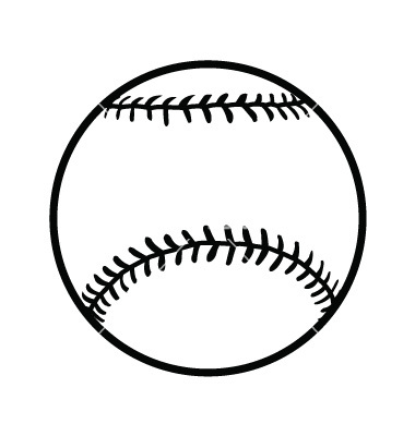 Baseball clipart outline. Free cliparts download clip