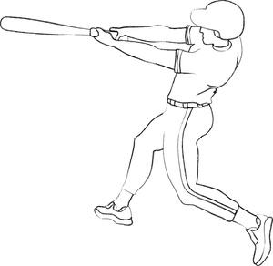 Baseball clipart outline. Player image clip art