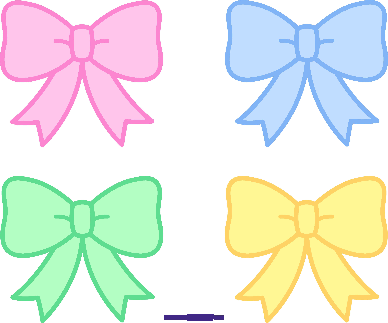 Cute pastel bows ribbons. Gavel clipart pink