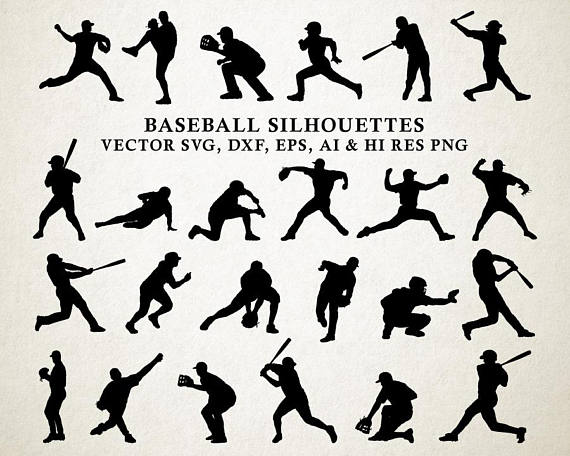 Baseball clipart silhouette. Clip art png vector