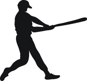 Bat clipart sport. Batter image silhouette of