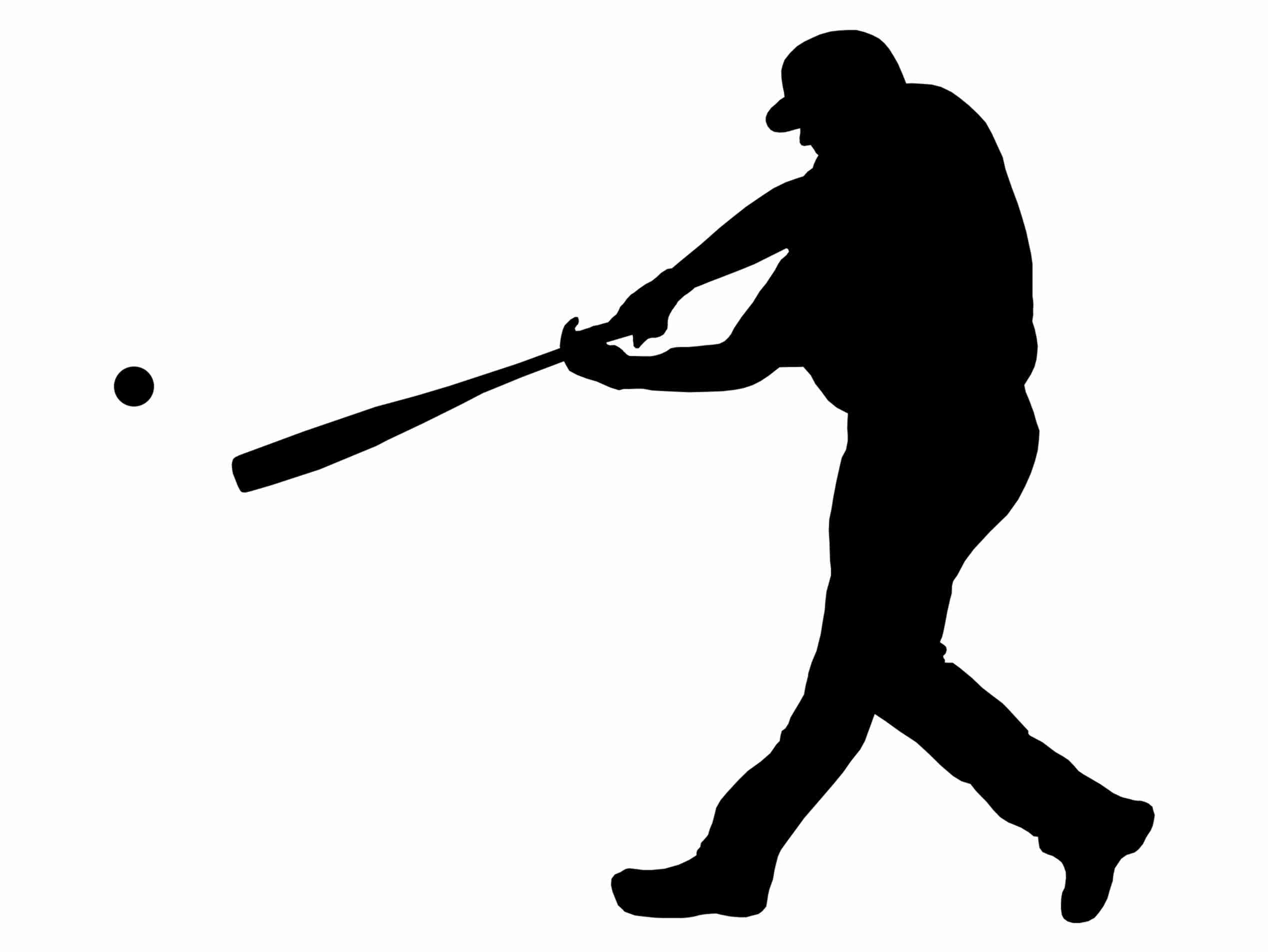 Baseball clipart silhouette. Player at getdrawings com