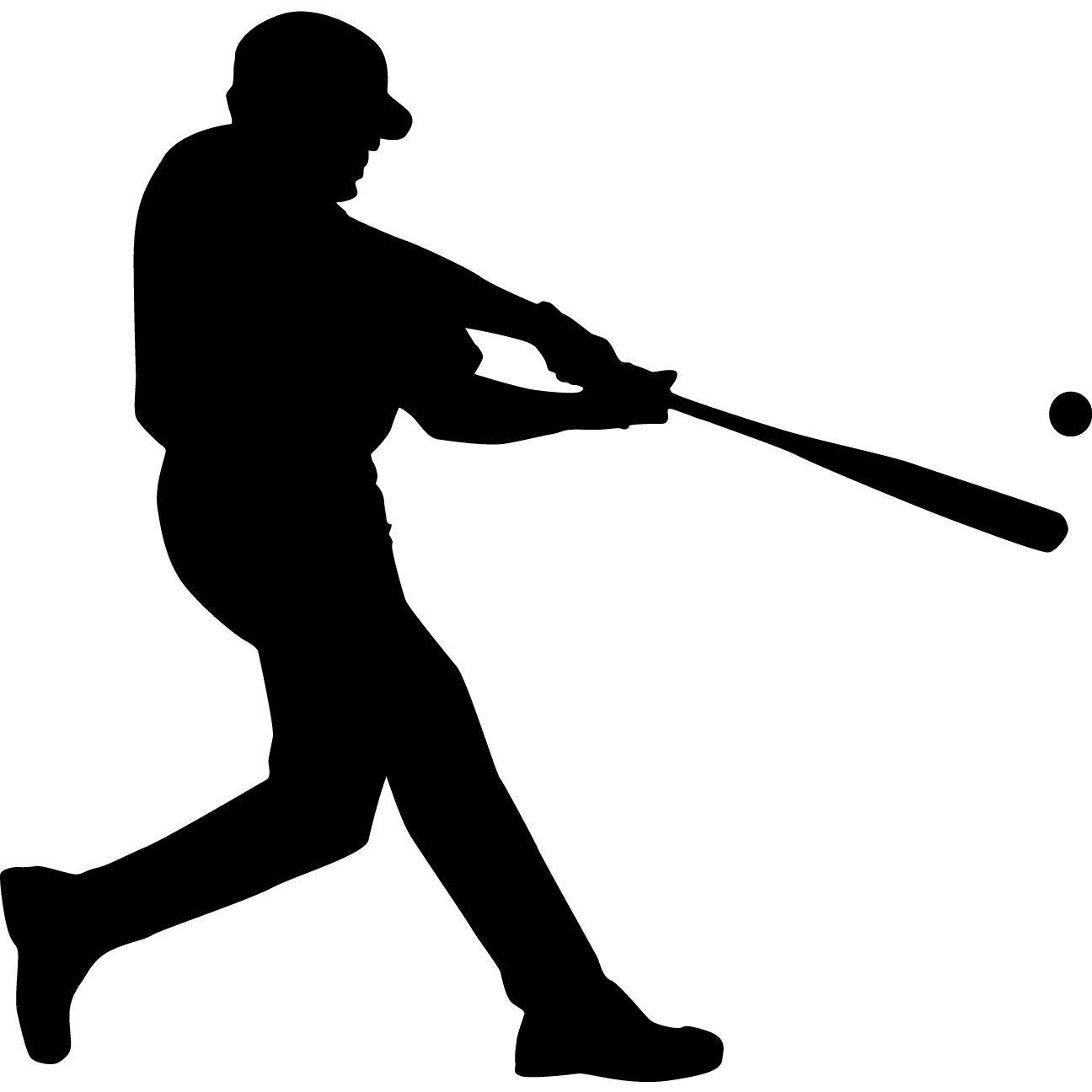 Baseball clipart silhouette. Free cliparts download clip