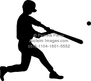 Baseball clipart silhouette. Clip art image of
