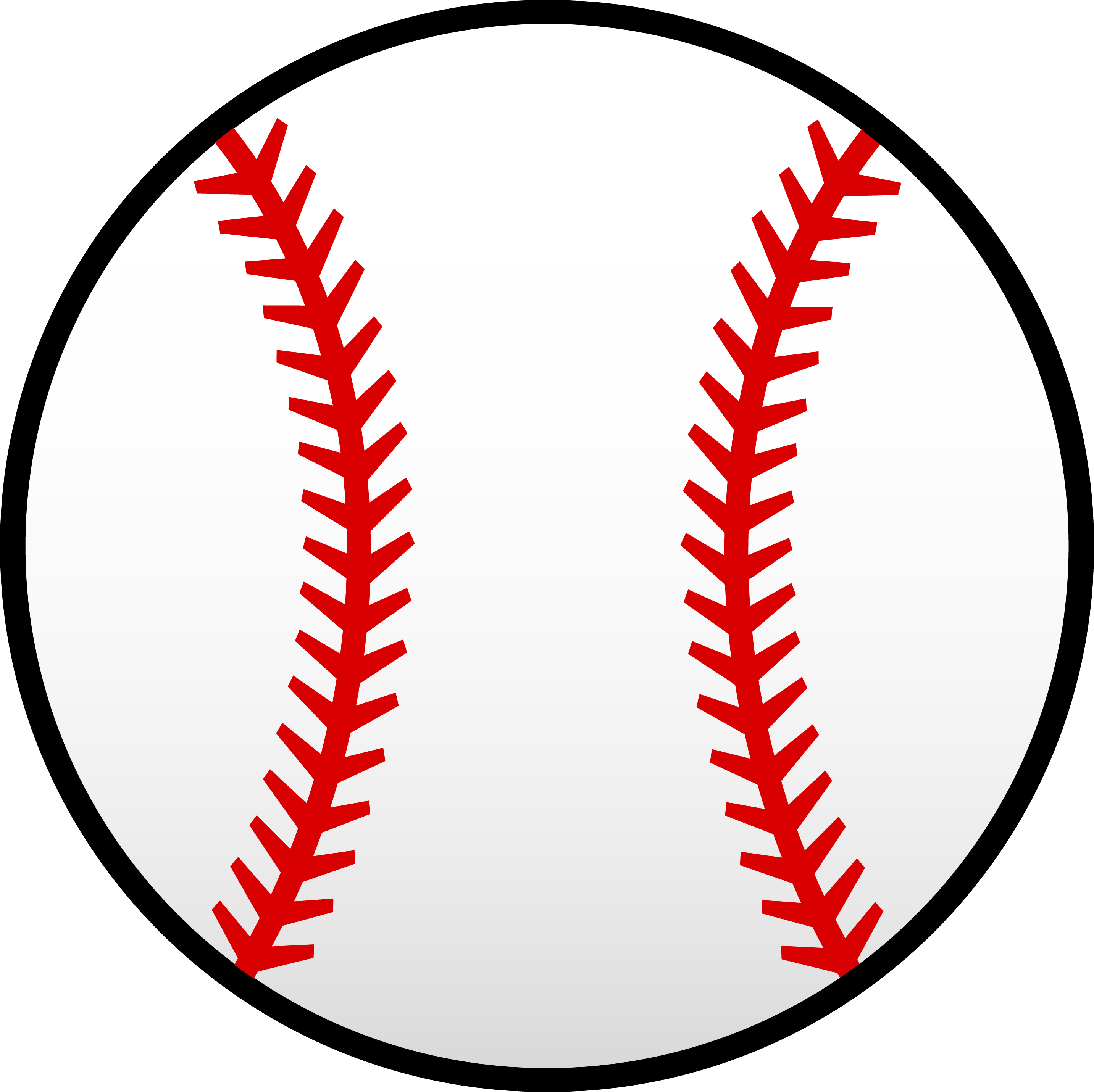 Stitch clipart softball. White baseball with red