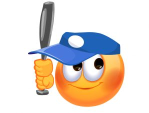 best emogy images. Baseball clipart smiley face
