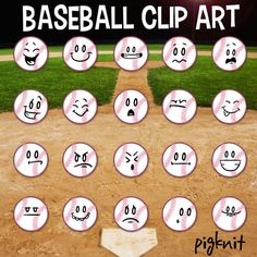 Clip art emoticon facial. Baseball clipart smiley face