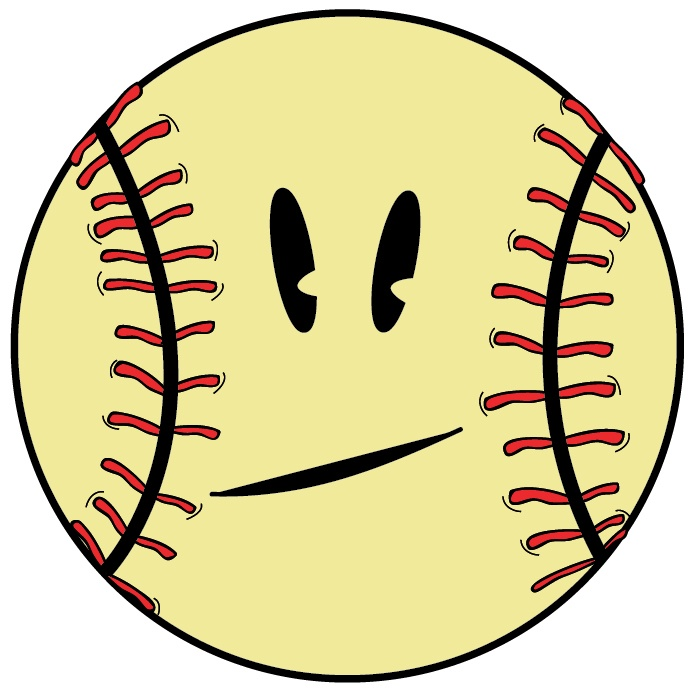 Baseball clipart smiley face.  best don t