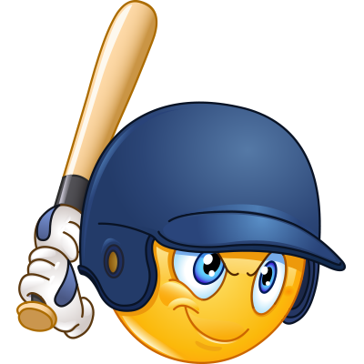 Batter up smileys and. Baseball clipart smiley face