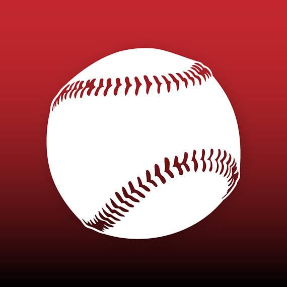 Svg files ball cut. Baseball clipart vector
