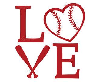 Baseball clipart vector. Love svg etsy heart
