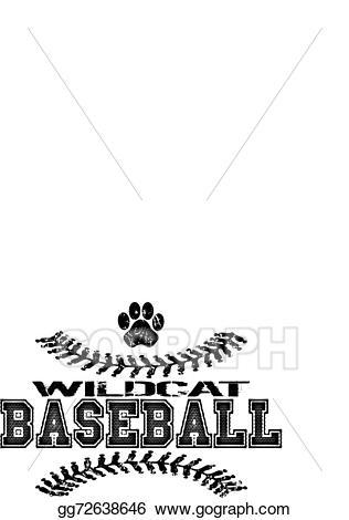 Baseball clipart vector. Illustration wildcat design stock