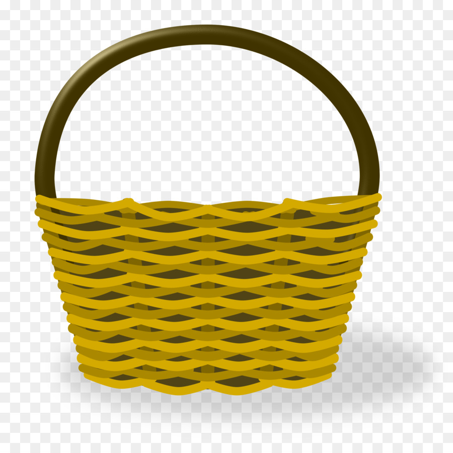 Basket clipart. Cartoon drawing