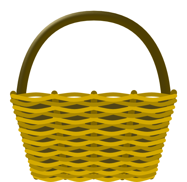 Basket clipart. Picnic clip art panda
