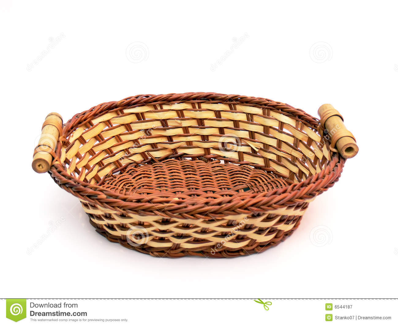 Basket clipart. Empty fruit