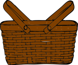 Brown . Basket clipart