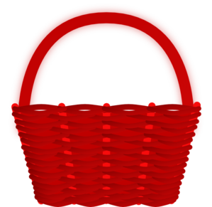 Red clip art at. Basket clipart
