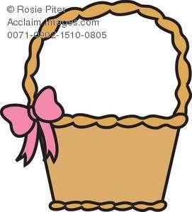 Basket clipart. Illustration of an easter