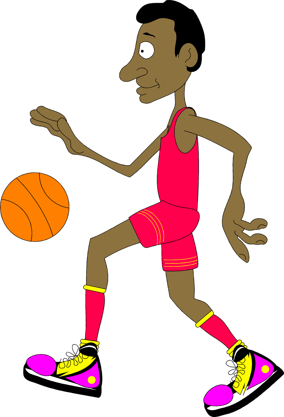 Basket clipart animated.  free basketball clip