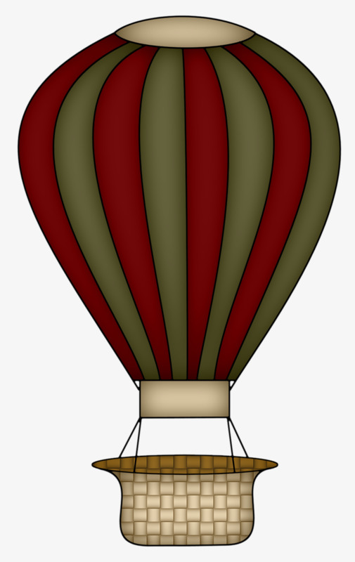 Basket clipart balloon. A hot air brown