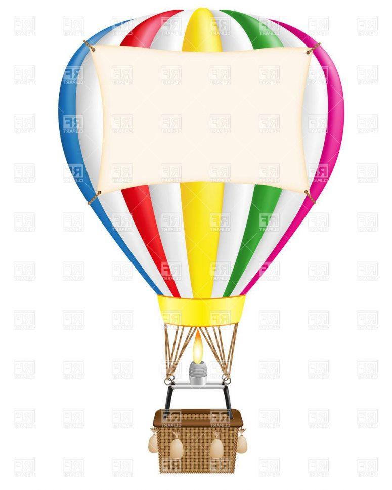 Basket clipart balloon. Hot air drawing at