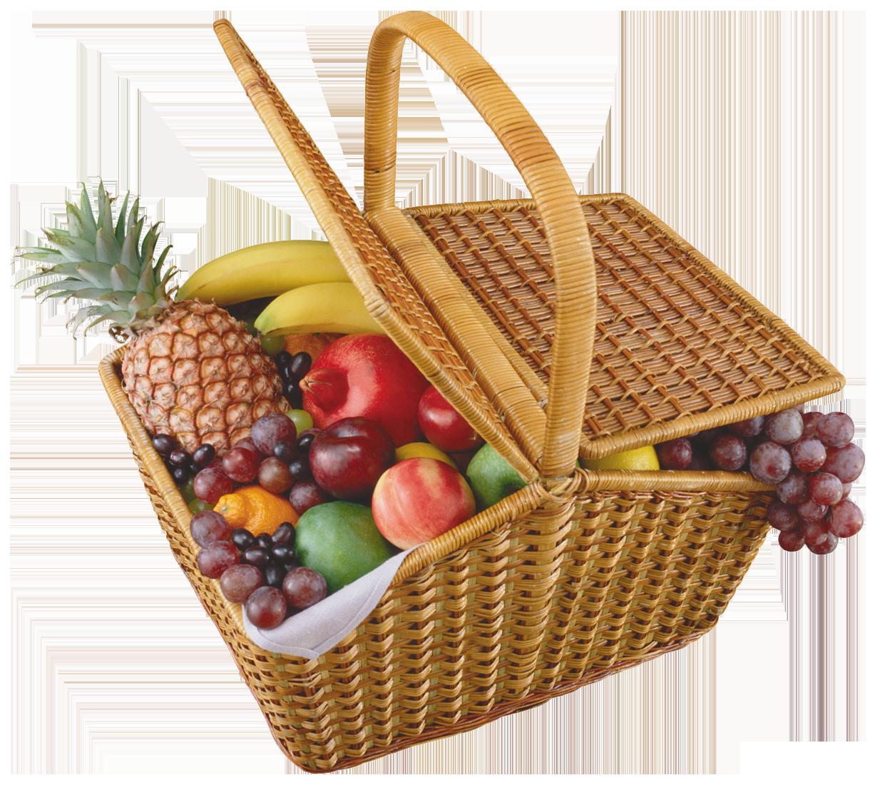 Fruits png best web. Fishing clipart basket
