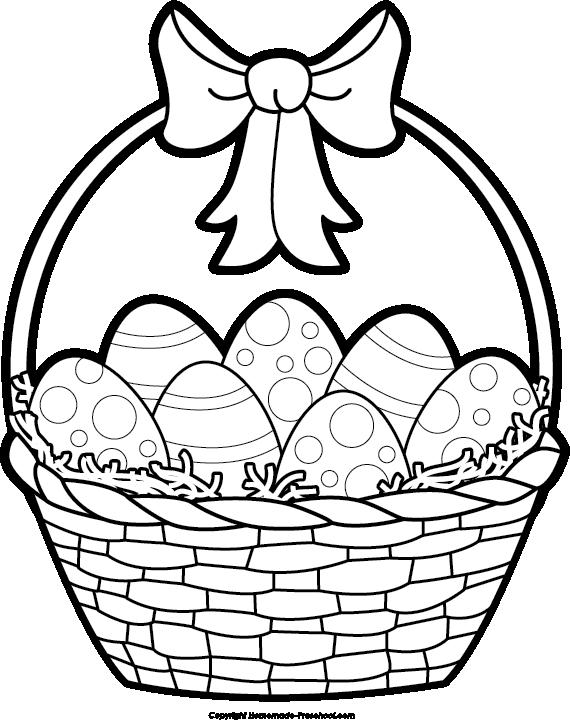 Raffle clipart hampers. Easter basket black and