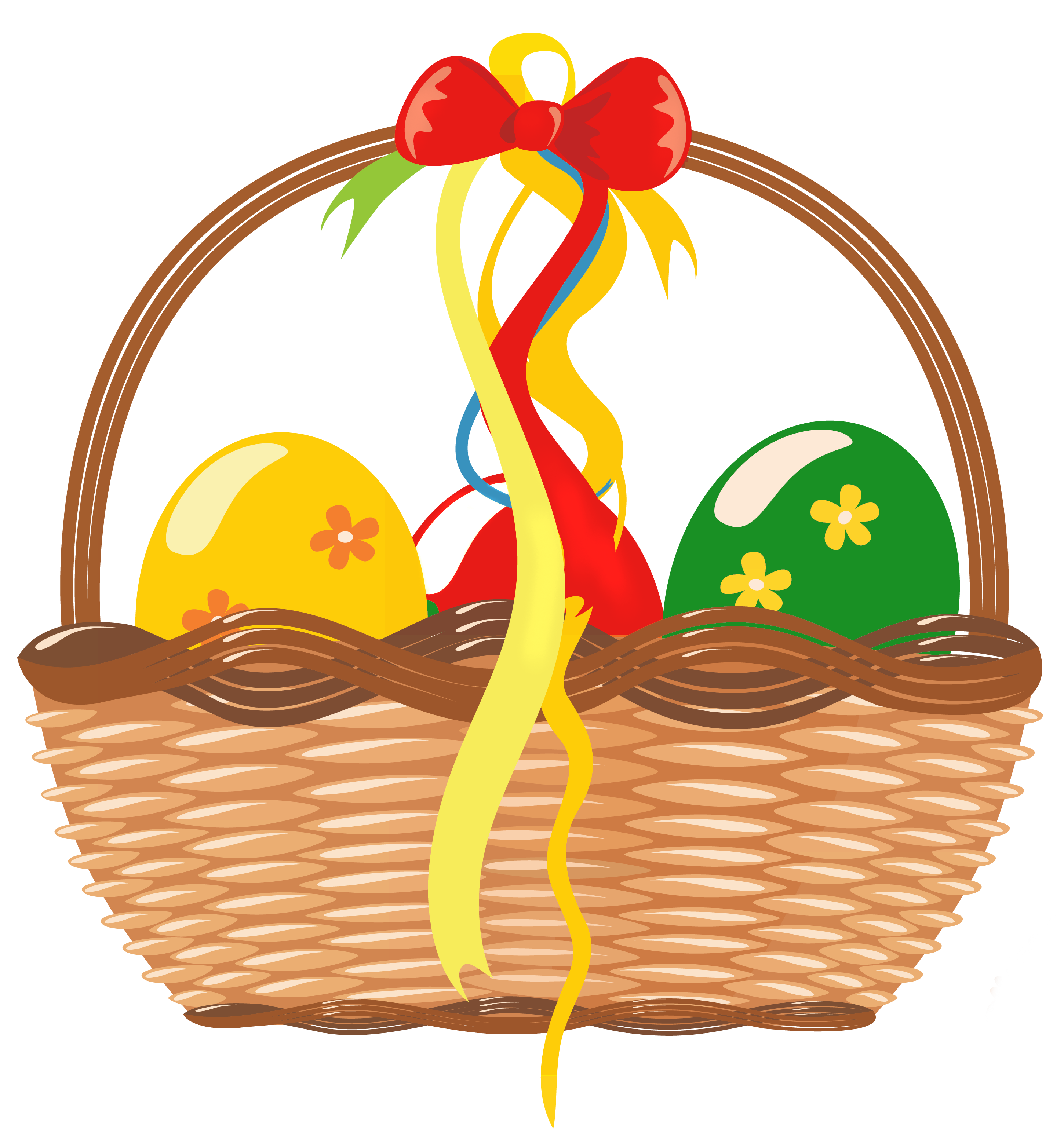 Gift clipart full basket. Easter with eggs png