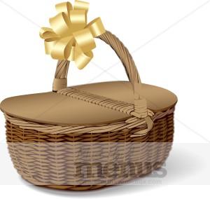 Woven picnic. Basket clipart brown basket