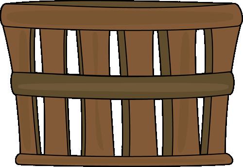 Clip art image. Basket clipart brown basket