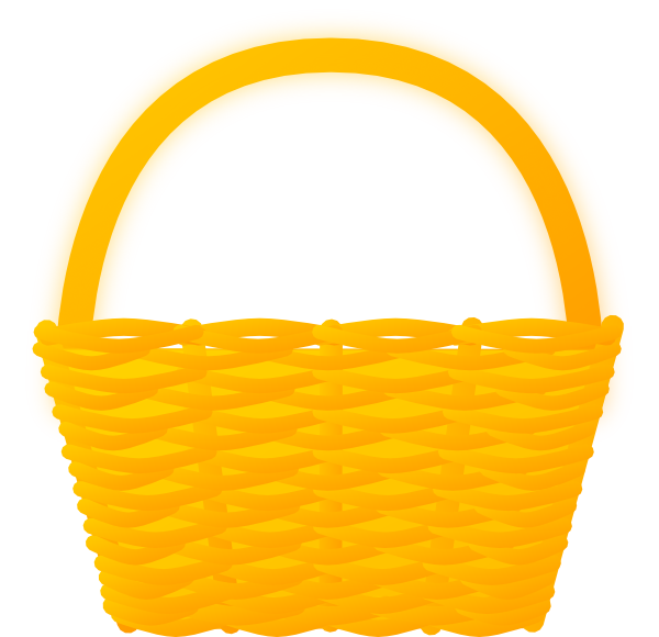 Orange clip art at. Basket clipart brown basket