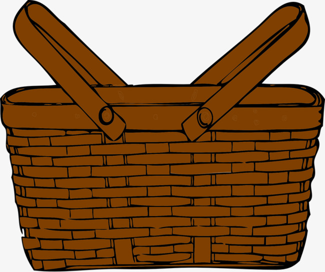 Basket clipart brown basket. Woven straw baskets weave