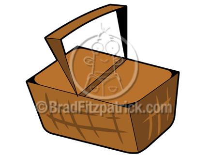 Basket clipart cartoon. Picnic clip art graphics