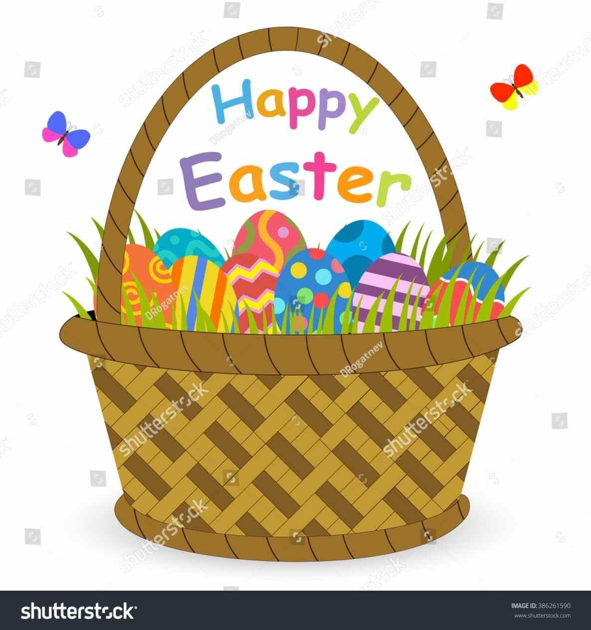 Basket clipart cartoon. Easter egg sparkassess com
