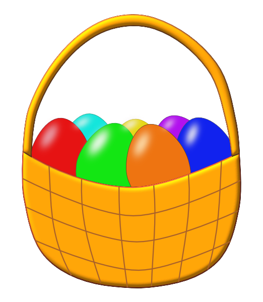 Orange easter clipartpen. Basket clipart cartoon