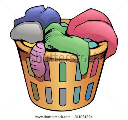Basket clipart cartoon. Laundry collection clip art