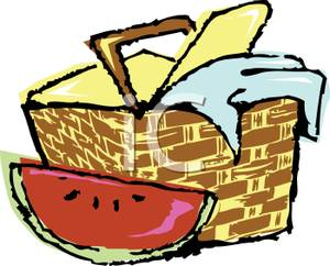 Picnic clipart. Free basket