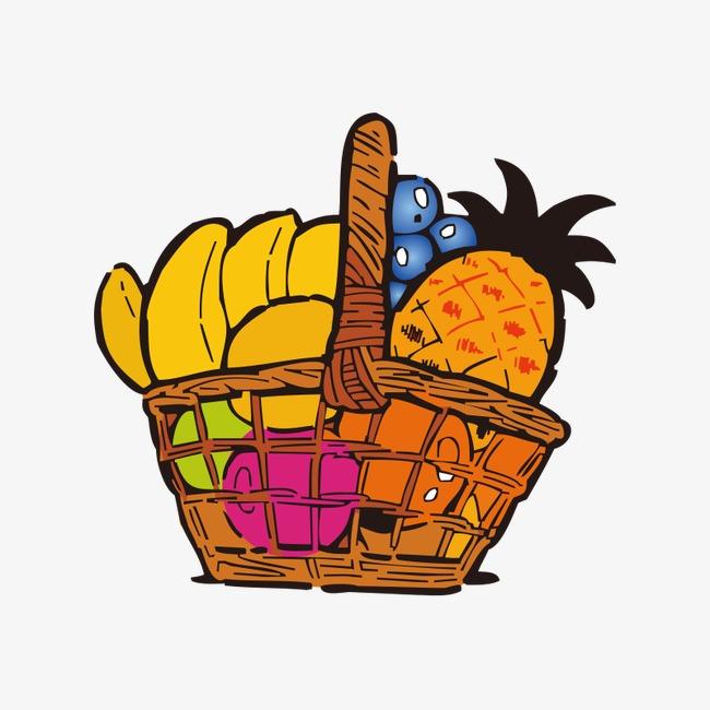 Baskets fruit png basketbaskets. Basket clipart cartoon
