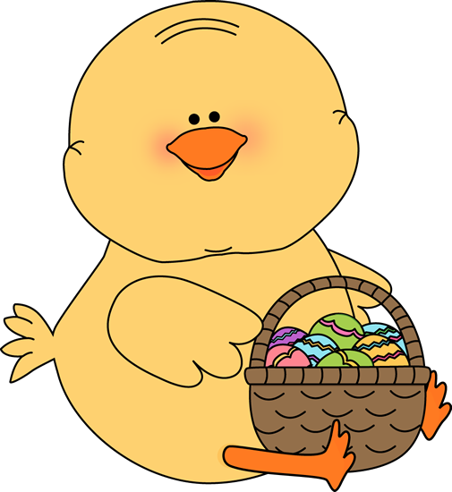 Clip art images with. Chick clipart easter basket